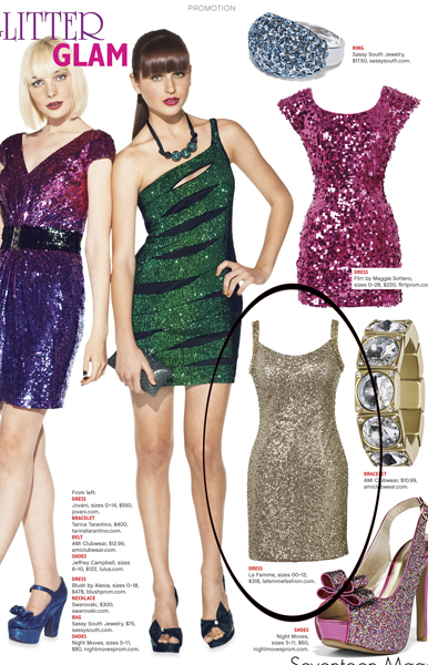 La Femme Style 16971 in Seventeen Magazine September 2011 Edition