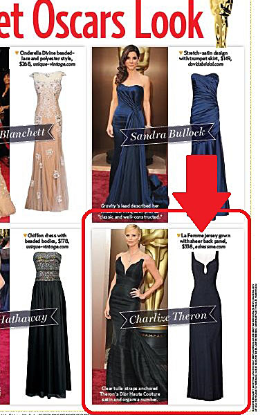 La Femme Style 19718 in US Weekly Oscars Red Carpet Special 2015, Page 69