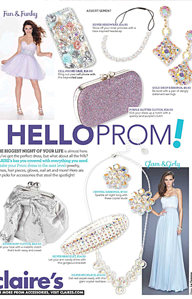 La Femme Style 20128 (bottom right) in Seventeen Magazine March 2014 Edition