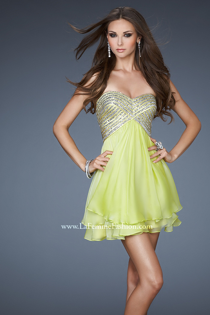 Picture of: Flirty Cocktail Dress with Layered Chiffon Skirt, Style: 18418,  Main