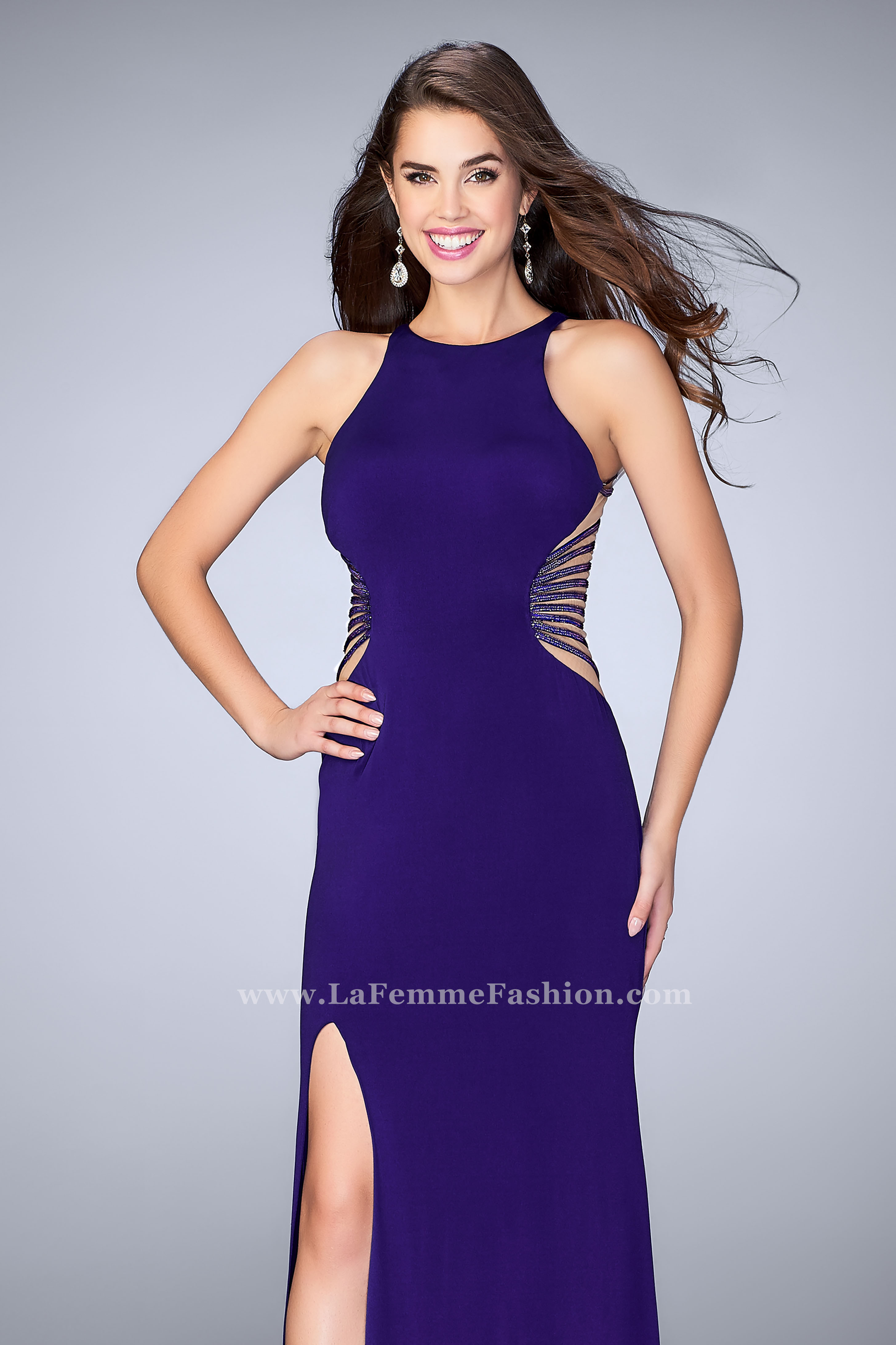 Purple Fitted Prom Dresses