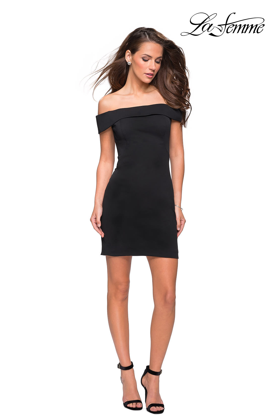 a3defbdeaef3 Picture of  Off the Shoulder Chic Little Black Dress