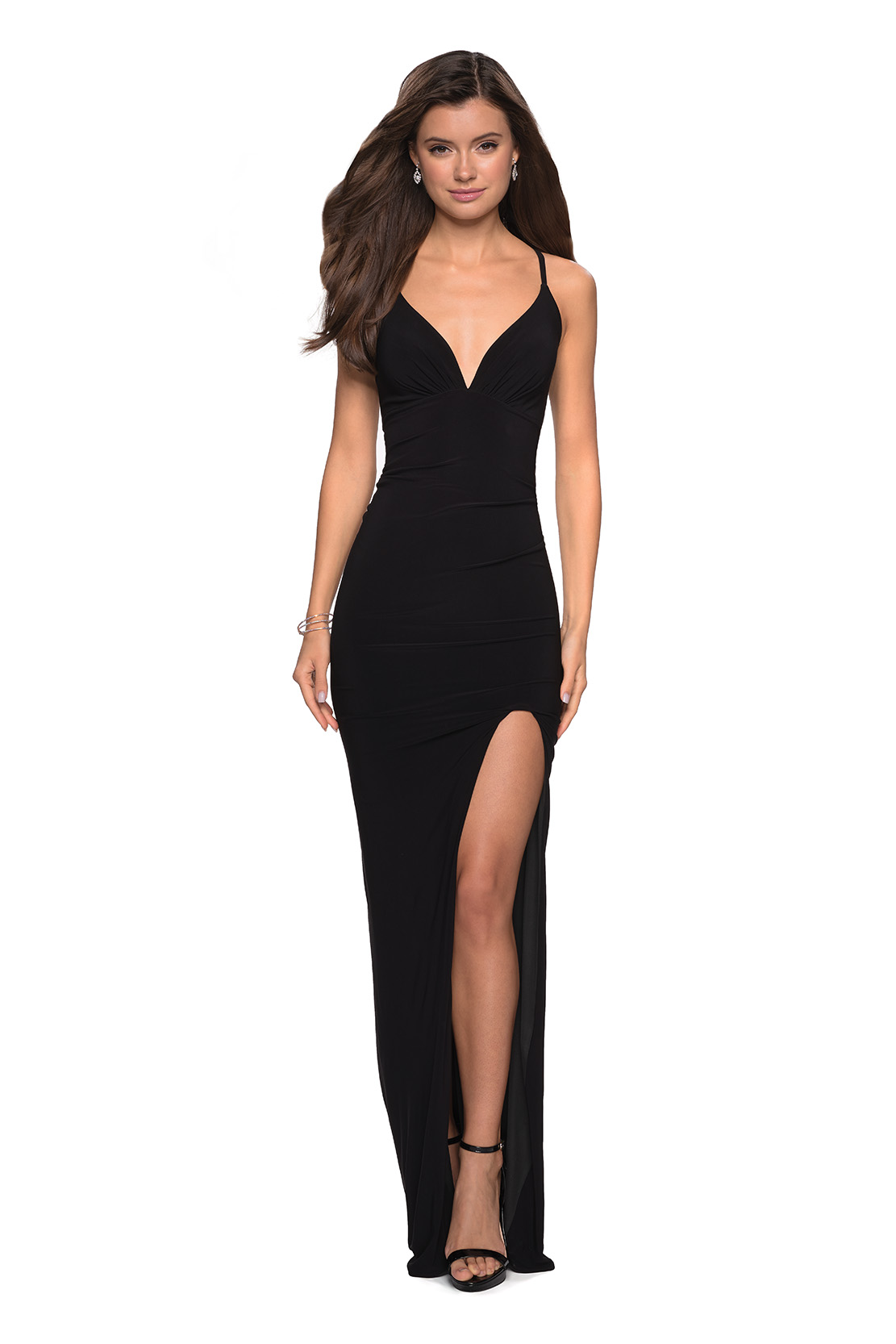 Black Prom Dress with Bow On the Back
