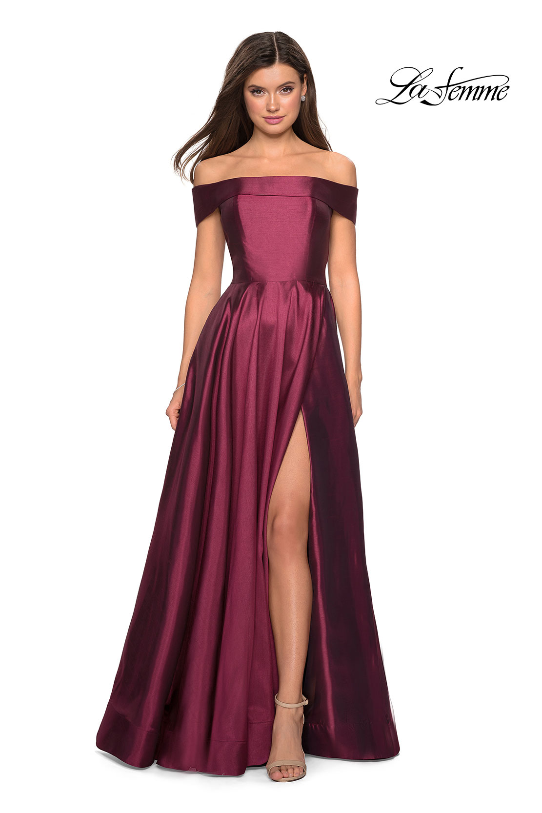 65db4842f53 Picture of  Long Off The Shoulder Gown with Pockets