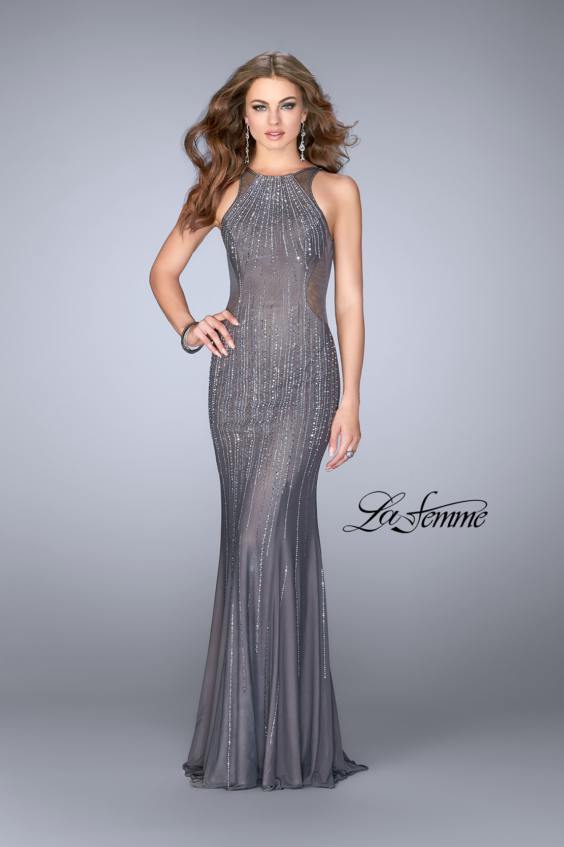 La Femme Beaded Dress
