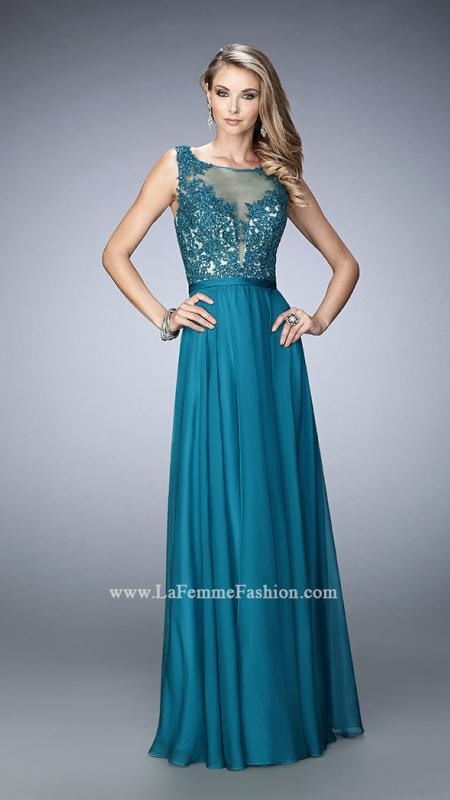Evening dress tall evergreen