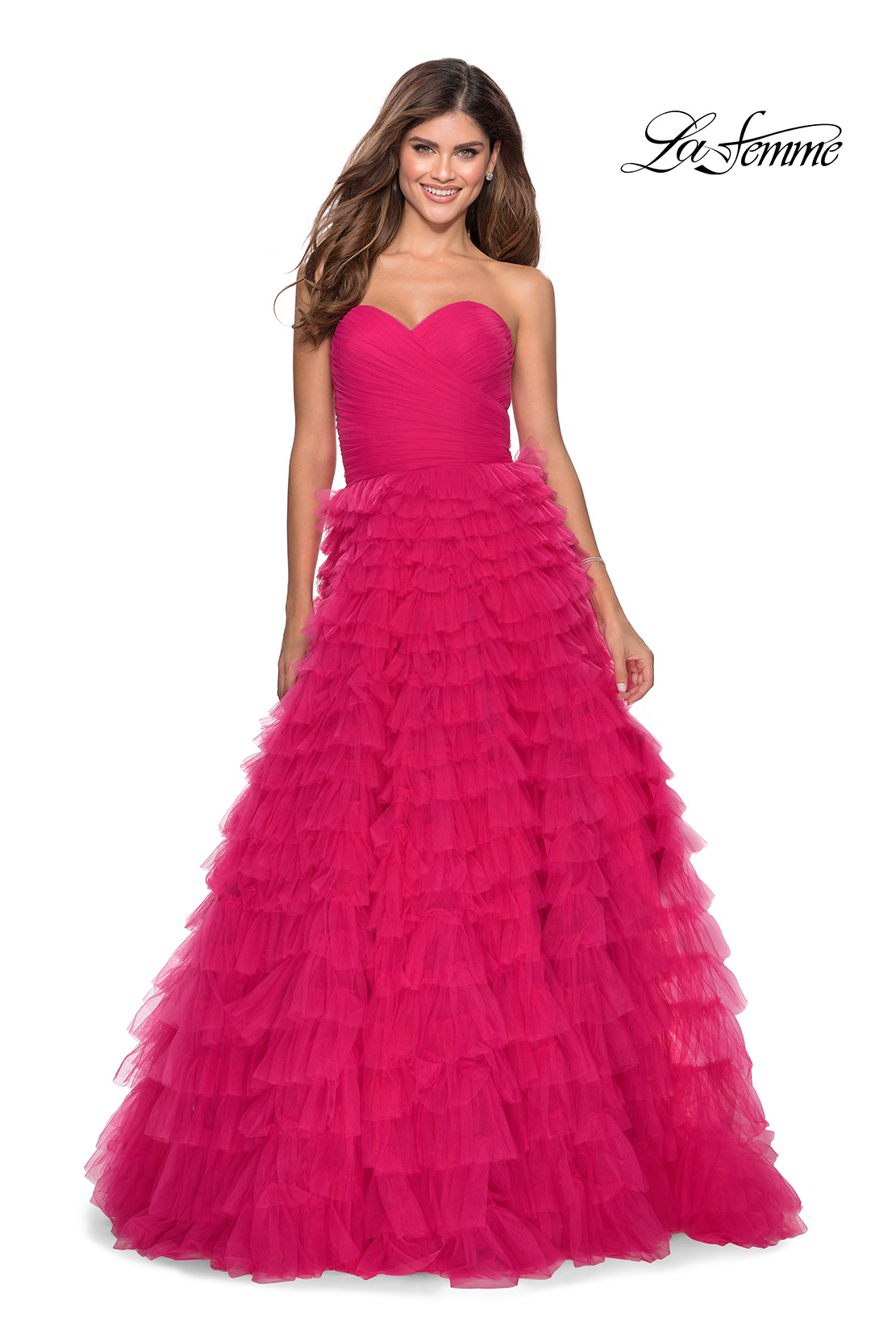 Prom Dress with Ruffles La Femme Style 28345
