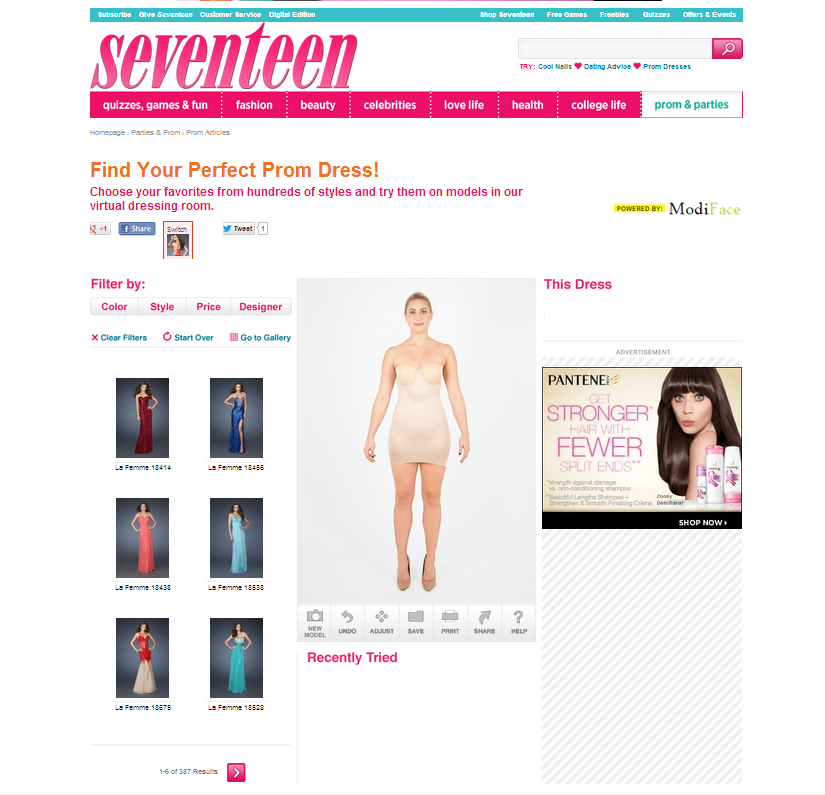 Seventeen Magazine Innovation with Virtual Dressing Room
