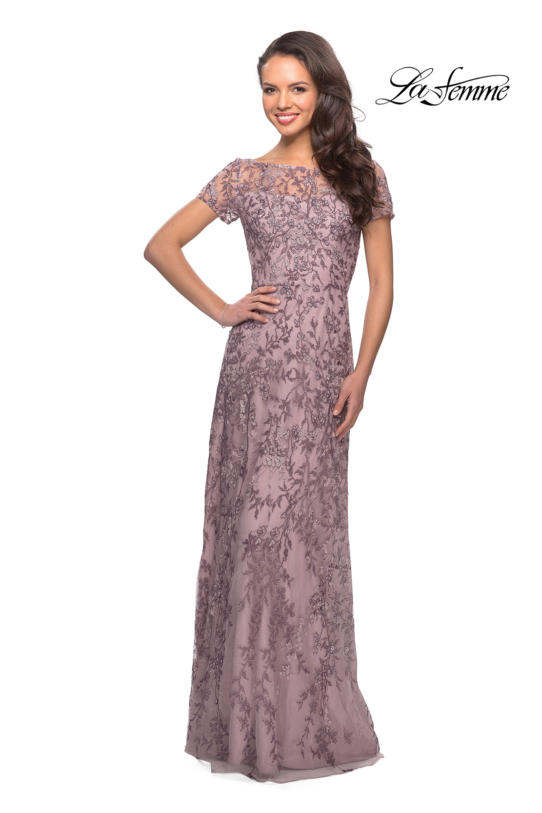 Lilac Floral Mother of the Bride Dress Style 27956