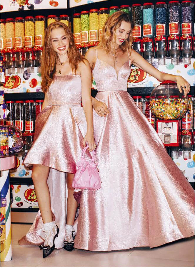Prom Dress in Seventeen Magazine, Metallic Pink Dresses