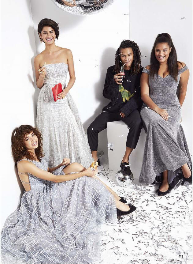 Prom Dress in Seventeen Magazine, Page 119, Silver Sequin Dress