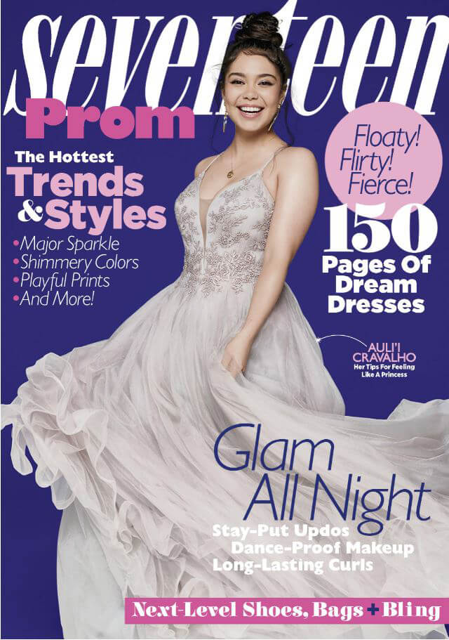 Prom Dress on Cover of Seventeen Magazine Auli'i Cravalho