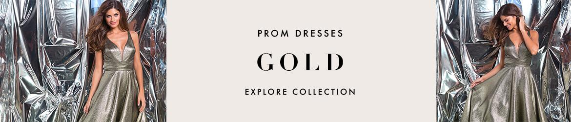 Picture of: Gold Prom Dresses and Rose Gold Prom Gowns