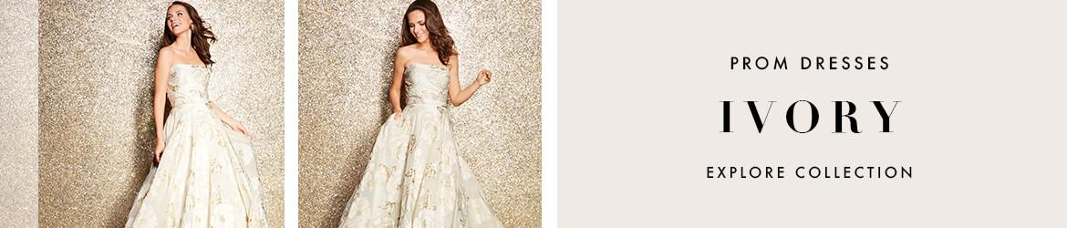Picture of: Ivory and White Prom Dresses