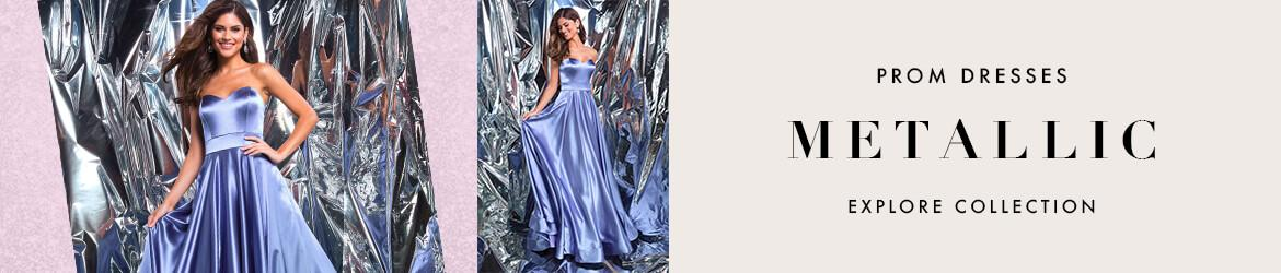 Picture of: Metallic Prom Dresses