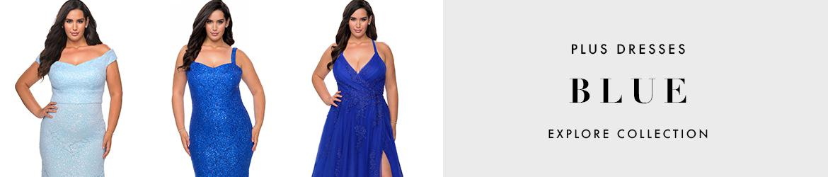 Picture of: Blue Plus Size Dresses