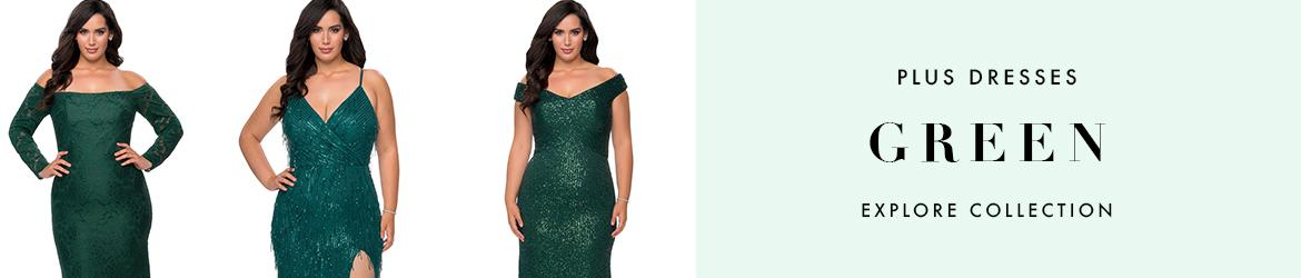 Picture of: Green Plus Size Dresses