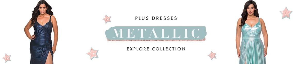 Picture of: Metallic Plus Size Dresses