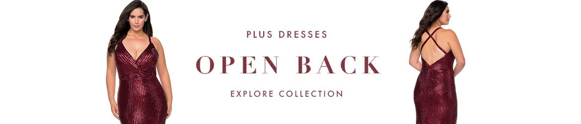 Picture of: Open Back Plus Size Dresses