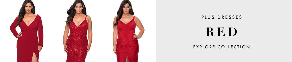 Picture of: Red Plus Size Dresses