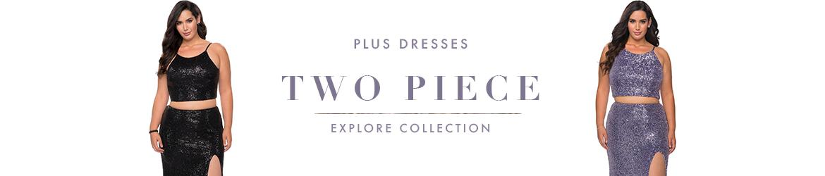 Picture of: Two Piece Plus Size Dresses