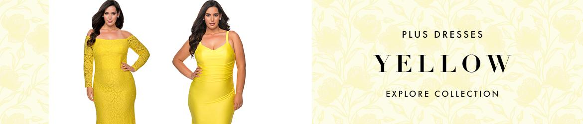Picture of: Yellow Plus Size Dresses