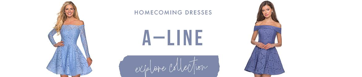 A-line homecoming dresses
