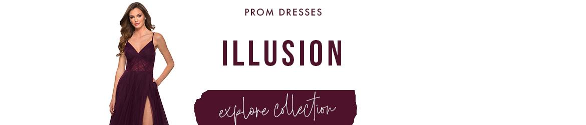 Picture of: Illusion Prom Dresses