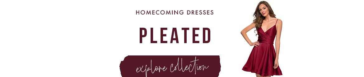 pleated homecoming dresses