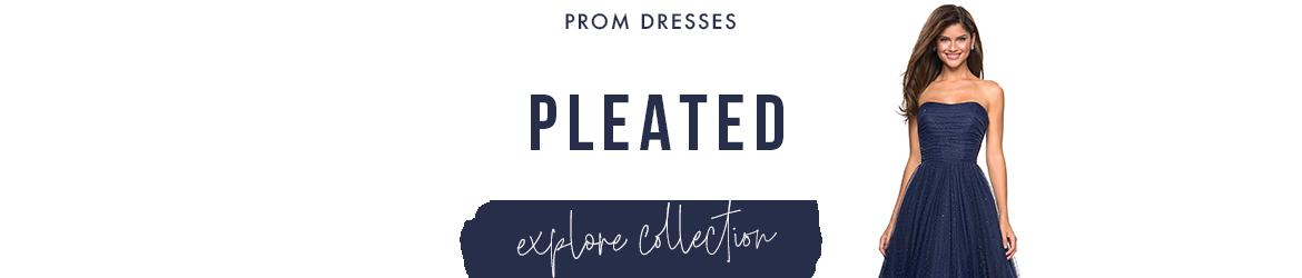 Picture of: Pleated Prom Dresses