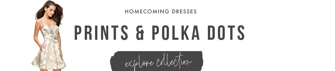 printed homecoming dresses