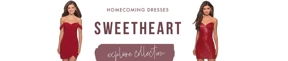 sweetheart homecoming dresses