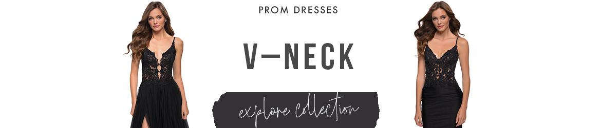 Picture of: V Neck Prom Dresses