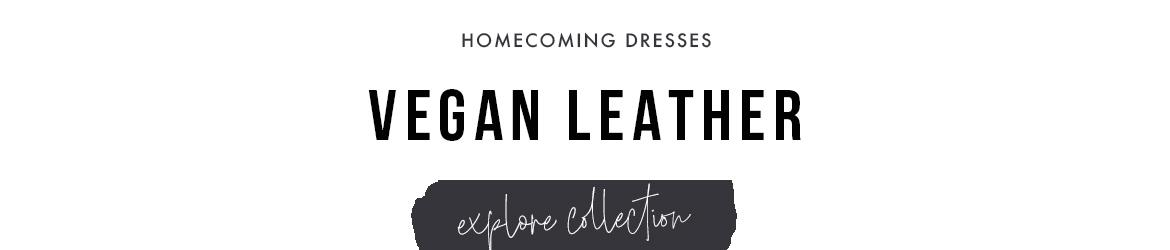 vegan leather homecoming dresses
