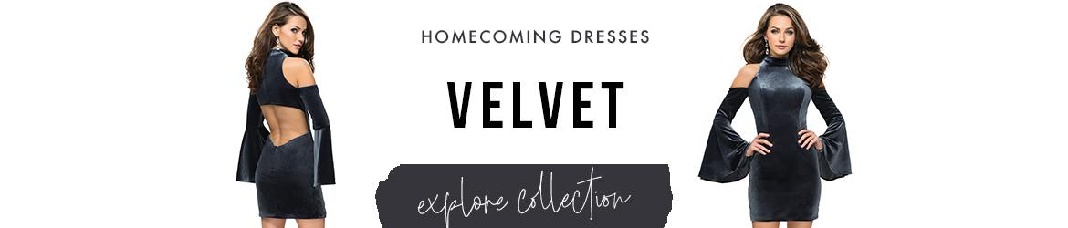 velvet homecoming dresses