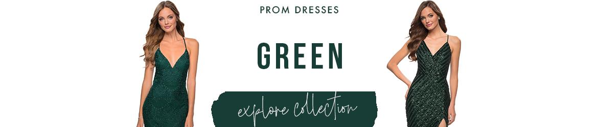 Green Prom Dresses and Emerald Prom Gowns