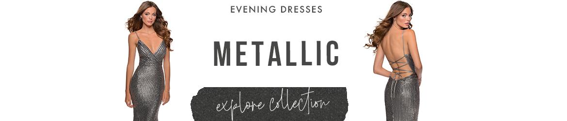 Metallic evening dresses