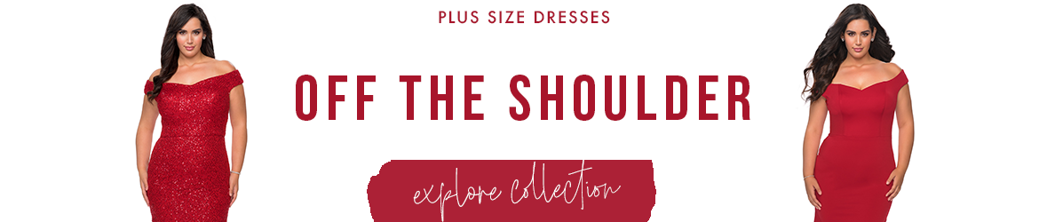 Picture of: Off the Shoulder Plus Size Dresses