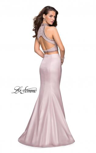 Picture of: Beaded Two Piece Mermaid Prom Dress with Open Back, Style: 26255, Back Picture