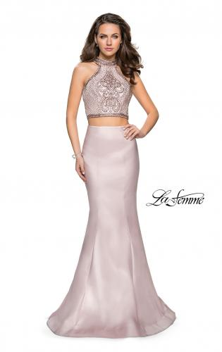 Picture of: Beaded Two Piece Mermaid Prom Dress with Open Back, Style: 26255, Main Picture