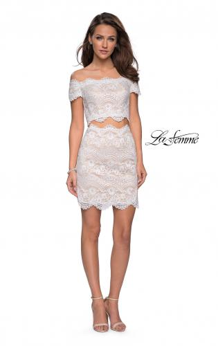 Picture of: Lace Two Piece Dress Set with Off the Shoulder Top, Style: 26666, Detail Picture 3