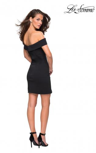Picture of: Off the Shoulder Chic Little Black Dress, Style: 27087, Back Picture