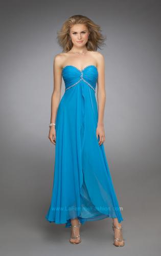 Picture of: Sweetheart Ruched Bodice Short Dress with Beaded Straps, Style: 11929, Main Picture