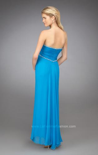 Picture of: Sweetheart Ruched Bodice Short Dress with Beaded Straps, Style: 11929, Back Picture