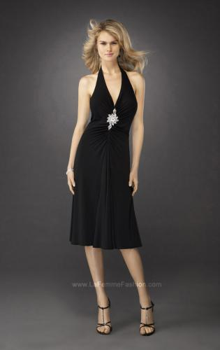 Picture of: Short Halter Dress with Brooch and Open Back, Style: 12839, Main Picture