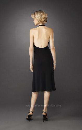 Picture of: Short Halter Dress with Brooch and Open Back, Style: 12839, Back Picture