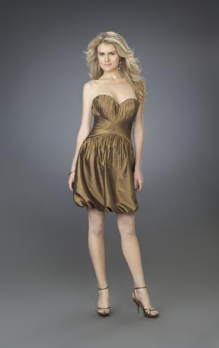Picture of: Strapless Cocktail Dress with Sweetheart Neck and Pleats, Style: 14126, Main Picture