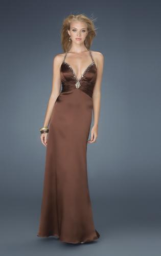Picture of: Low V Neck Halter with Criss Cross Back and Beading, Style: 14303, Main Picture