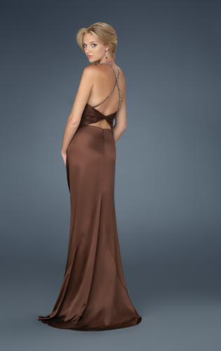 Picture of: Low V Neck Halter with Criss Cross Back and Beading, Style: 14303, Back Picture