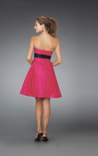 Picture of: Short Strapless Dress with Bow Bodice and Pleated Skirt, Style: 14311, Back Picture